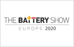 The battery show in Stuttgart, Germany, April 2020