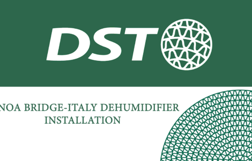 Genoa bridge dehumidification by DST